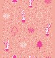 cute bold pink modern minimal christmas cacti vector image vector image