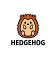cute hedgehog cartoon logo icon vector image vector image