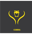 dangerous cobra snake head with hood logo vector image