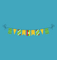 decorations bunting flags for myanmar national vector image vector image