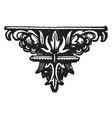 decorative footer is a dark flower design vintage vector image vector image