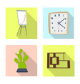design furniture and work sign vector image vector image