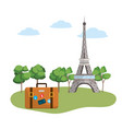 europe travel monument vector image vector image
