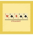 flat shading style icon cards straight vector image vector image