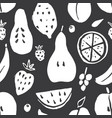 fruit seamless pattern collection juicy fruits vector image