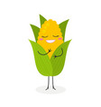 happy cartoon corn vector image