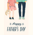 happy fathers day man holds vector image