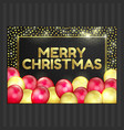 happy new year christmas card gold red balloons vector image vector image