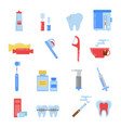 healthcare in flat style dental vector image vector image