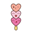 ice cream cartoon kawaii icon graphic vector image vector image