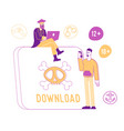 internet crimes and pirate information stealing vector image