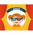 kids moviegoers vector image vector image