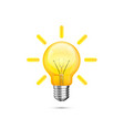 lamp idea icon object yellow light vector image vector image