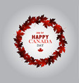 leaf line canada day card in vector image vector image