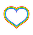 lgbt rainbow heart symbol of love fo sexual vector image