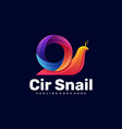 logo snail gradient colorful style vector image vector image