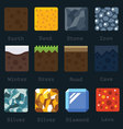 Materials and textures for the game vector image