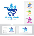 money market logo designs vector image