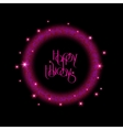 New Year 2016 background Purple shining round vector image vector image