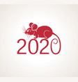new year 2020 congratulation background vector image