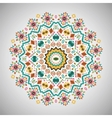 Ornamental round bright fashion pattern in aztec vector image