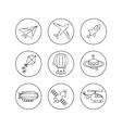 outline icon set of aircraft vector image vector image