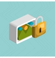 padlock with picture isolated icon design vector image