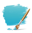 Paint brush blue background vector | Price: 1 Credit (USD $1)