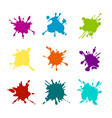 paint splashes various colors vector image
