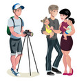 photo shoot young family vector image vector image