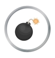 Pirate grenade icon in cartoon style isolated on vector image vector image