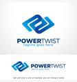 power twist logo template design emblem design vector image