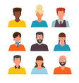 profile pictures id or cv avatars male vector image