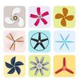 propeller fan fan propeller vector image vector image