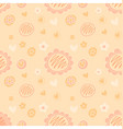 repeatable doodle floral love pattern soft peach vector image vector image