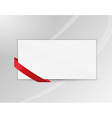 ribbon or bookmark with blank paper vector image vector image