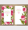 rose vertical banners vector image vector image