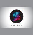 s blue purple letter logo design colorful modern vector image vector image