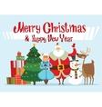 Santa Missis Claus elf kids helpers family vector image