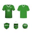 saudi arabia home and away soccer jersey kit set vector image vector image