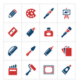 Set color icons of art vector image vector image