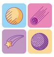 space and astronomy science universe elements set vector image