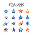 star collection logo vector image