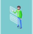 tech startup testing platform business vector image