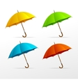 umbrellas set vector image