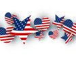 usa background design on white background vector image vector image