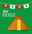 viva mexico invitation event patriotic vector image vector image