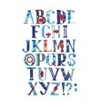 watercolor alphabet in marine style vector image