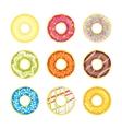 Donut Set on a Light Background vector image