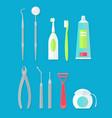 dental tools set vector image